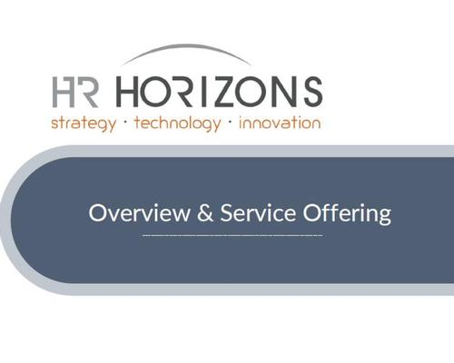 HR Horizons Overview and Service Offering